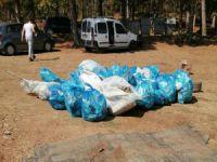 Bursa'da 4 saatte yarım ton çöp topladılar