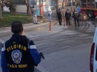 Bursa'da park halindeki otobüs alev aldı