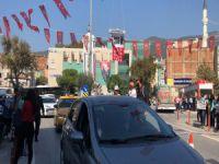 Bursa'da drone ile pankart!