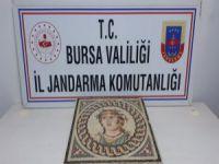Bursa'da mozaik tablo ele geçirildi