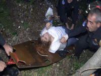 Bursa'da uçurumdan yuvarlandı