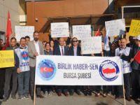 Bursa'da postacıların isyanı