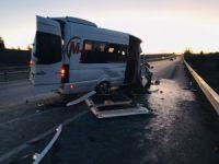 Bursaspor taraftarları kaza yaptı!