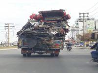Trafikte tehlike saçtı
