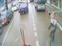 Trafik magandasına yolcu engeli