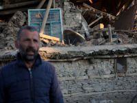 Bir köy tamamen yıkıldı