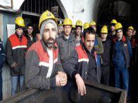 Madencilerden iş bırakma eylemi