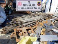 Bursa'da hızlı tren inşaatını soydular