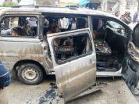 Bomba yüklü araç patladı