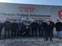 Bursaspor taraftarları TFF'yi protesto etti