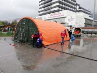 Son dakika! Bursa'da korona çadırları kuruluyor