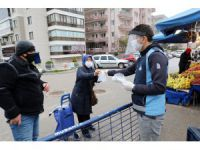 Mudanya Belediyesi maske dağıttı