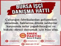 Bursa'da İşçi danışma hattı