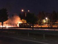 Bursa'da yine belediye otobüsü yandı!