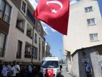 Şehit komiserin naaşı Bursa'ya getirildi