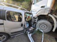 Yaralı sürücü kurtarılamadı!