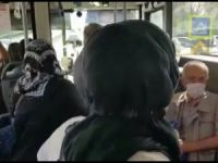 Otobüste mesafe kavgası!