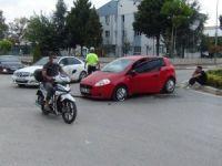 Kaza yaptı şoka girdi!