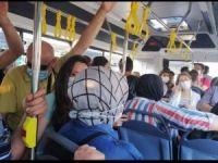"""Bursa'da """"Sırt sırta toplu ulaşım"""" tepkisi"""