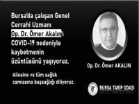 Bursa'da bir doktor daha koronaya yenildi