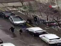 Selçuk Özdağ'a saldırı kameralarda