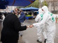 Kestel Belediyesi vatandaşlara sabun dağıttı