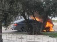 Bursa'da otomobil alev aldı