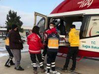 Helikopter ambulans havalandı