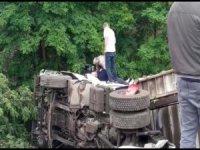 Orhaneli yolunda kaza
