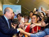 Çin'de Erdoğan izdihamı