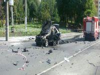 Kiev'de bomba yüklü araç patladı!