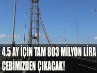 Köprü ve tünelin zararını vatandaş ödüyor!