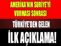 Türkiye'den ilk açıklama!