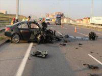 Kuzey Marmara otoyolunda korkunç kaza!