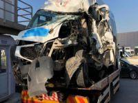 Bursa'da servis kazası!