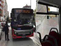 Halk otobüsünde panik!