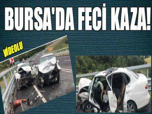 Bursa'da feci kaza sonrası...