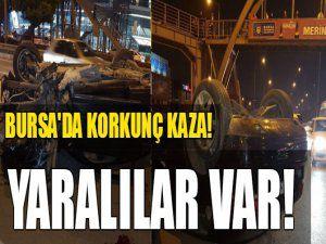 Bursa'da korkunç kaza! Yaralılar var...