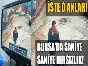 Bursa'da hırsızlık anı kamerada!
