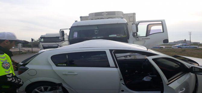 Bursa'da kırmızı ışıkta kamyon dehşeti