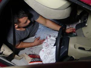 Bursa'da sürücü kaza sonrası şoka girdi!