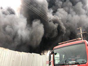 Bursa'da fabrika yangını!