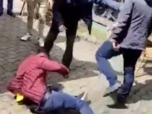 Bursa'daki kafede bıçaklama anları